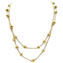 Ippolita Glamazon 18 Karat Yellow Gold Station Necklace 14.86 Grams