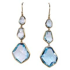 Ippolita Gold and Topaz Triple Drop Earrings