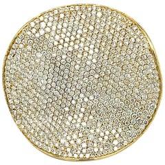 Ippolita Large 18 Karat Stardust Gold and Pave Diamond Flower Ring