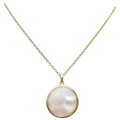 Ippolita 'Lollipop' Gold and Mother of Pearl Doublet Pendant Necklace
