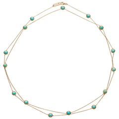 Ippolita Lollipop Lollitini Turquoise 18 Karat Gold Necklace