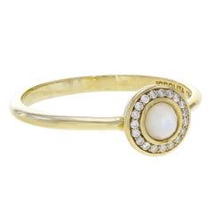 Ippolita Lollipop Mother of Pearl Diamond Halo Mini Ladies Ring