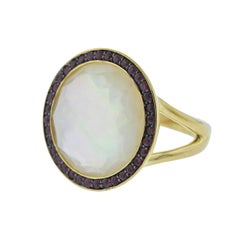 Ippolita Lollipop Mother-of-Pearl Ruby Gold Ring