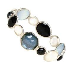 Ippolita Multi-color Multi-stone Sterling Silver Wonderland Hero Bangle Bracelet