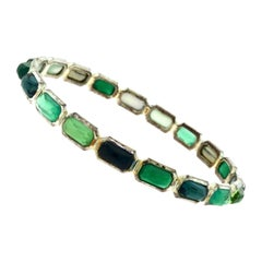 "Ippolita Rock Candy ""Green Neptune"" Multi-Stone Silver Mixed Hinge Bracelet"