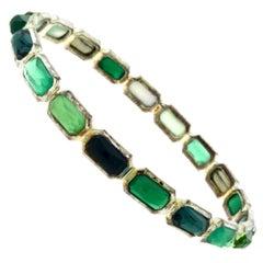 Ippolita Rock Candy Multi-Stone Silver Bracelet in Green Neptune Bracelet