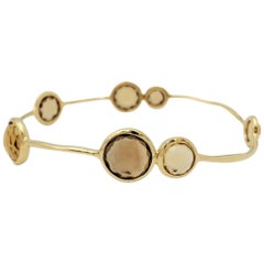 Ippolita 'Rock Candy' Yellow Gold and Citrine Bangle
