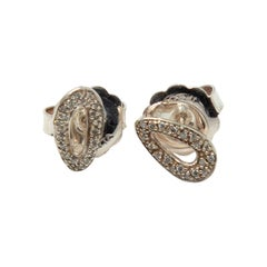Ippolita Silver Diamond Cherish Stud Earrings