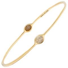 Ippolita Stardust Diamond Gold Bangle Bracelet