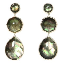 Ippolita Sterling Silver/Mother Of Pearl/Quartz Doublet Crazy 8s Drop Earrings