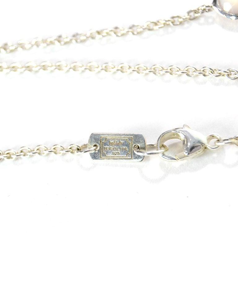 Women's Ippolita Sterling Silver/Peach Quartz/MOP Doublet Wonderland Station Necklace For Sale