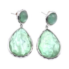 Ippolita Sterling Silver Rock Candy Drop Earrings with Mother of Pearl and Green
