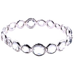 Ippolita Sterling Silver Rock Crystal Bangle Bracelet