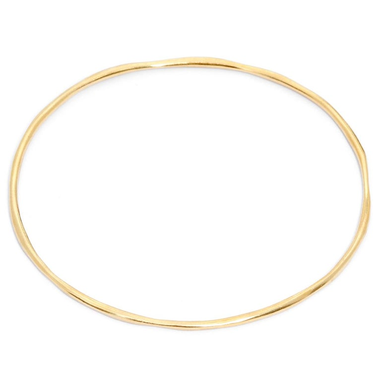 Ippolita Yellow Gold Bangle Bracelet In Excellent Condition For Sale In Dallas, TX