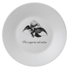"""Ipse dixit"", Crafted in Italy Set of Dessert Plates with Famous Latin Mottos"