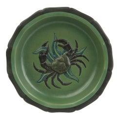 Ipsen Denmark Art Nouveau Ceramic Crab Dish, circa 1910-1919