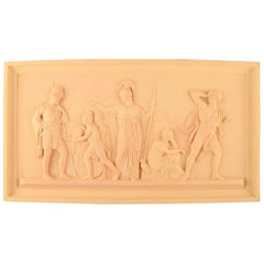 Ipsen's, Denmark, Large Terracotta Wall Plaque with Motif after Thorvaldsen