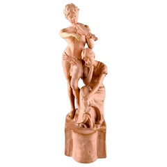 Ipsen's, Denmark, Unglazed Ceramic/Terracotta, Young Couple