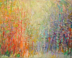 """Forest Series, Hidden Energy"" -- Romantic, American Monet, Landscape, Abstract"