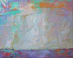 """Sky Earth - Vastness"" - - Romantic, American Monet, Landscape, Abstract"