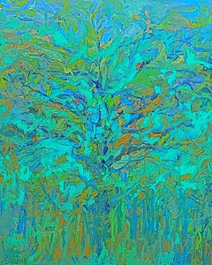 """Thinking of Spring"" - - Romantic, American Monet, Landscape, Abstract"