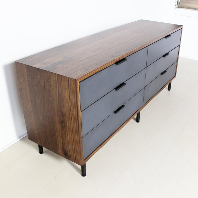 American Ira Modern Concrete, Cement and Wood Dresser For Sale