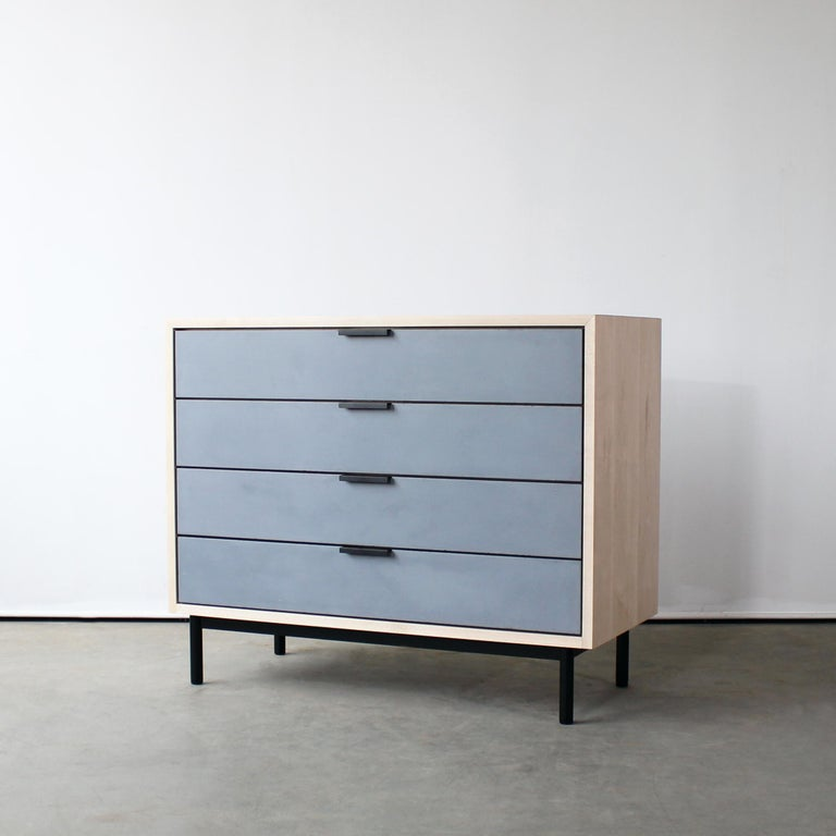 American Ira Modern Concrete, Cement Dresser and Chest by Crump and Kwash  For Sale