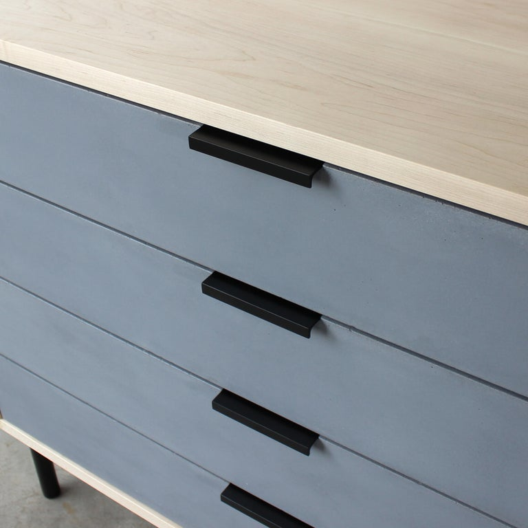 Steel Ira Modern Concrete, Cement Dresser and Chest by Crump and Kwash  For Sale
