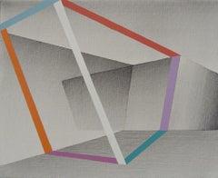 Ideas In White Space, Ira Svobodova, Geometric Abstraction, Acrylic on linen