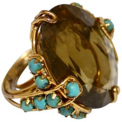 Iradj Moini Citrine and Turquoise Adjustable Cocktail Ring