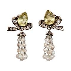 Iradj Moini Freshwater Pearl tassel Earrings