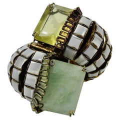 Iradj Moini Mother of Pearl Brass Cuff