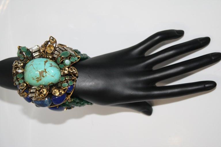 Iradj Moini Multi Strand Bracelet with Brooch Clasp In New Condition For Sale In Virginia Beach, VA