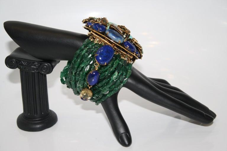 Iradj Moini Multi Strand Bracelet with Brooch Clasp For Sale 1