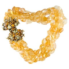 Iradj Moini Multi Strand Citrine Necklace