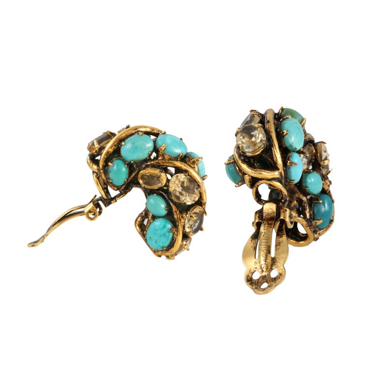 Iradj Moini Turquoise Earrings In Good Condition For Sale In Palm Beach, FL