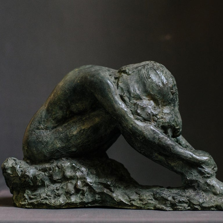 Italian Irati Bronze Sculpture For Sale