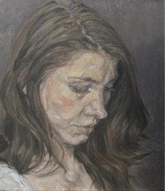Emi, head, Painting, Oil on Canvas