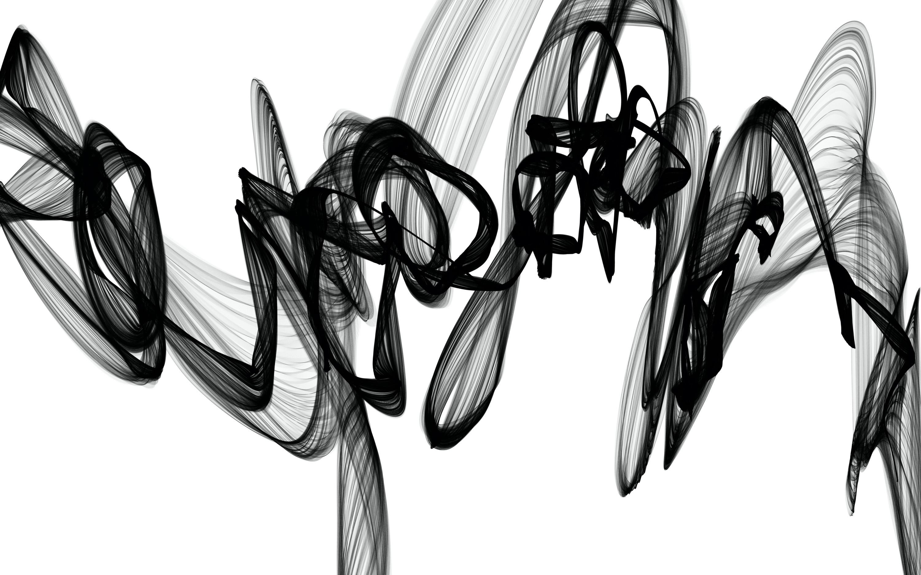 """Black White Minimalist New Media vs Painting 46""""H X 80""""W Poetry and Music"""