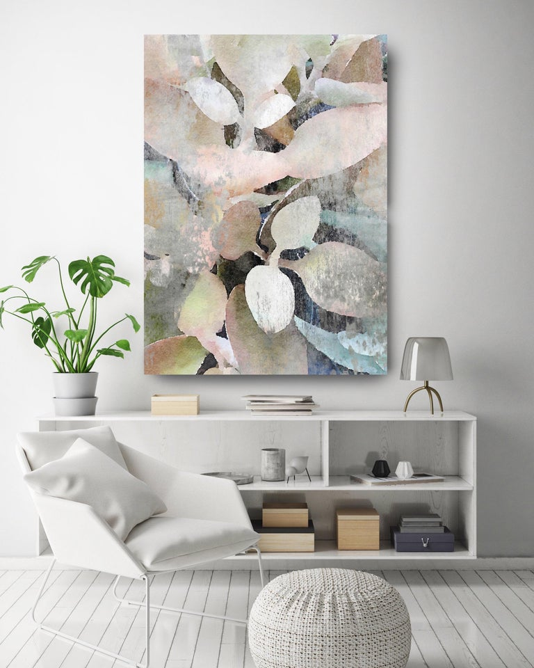 Rustic Nature Pink Teal Landscape Painting Hand Embellished Giclee on Canvas   Collector's Edition Embellished Art Canvas Giclee With Brushstrokes and rich texture.  State-of-the-art HAND EMBELLISHED ∽ MUSEUM QUALITY ∽ DISPLAY READY Giclee