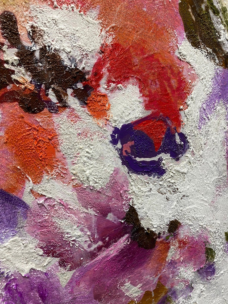 Vivid Floral Horse, BOHO Horse Fine Art Hand Embellished Giclee on Canvas  Collector's Edition Embellished Art Canvas Giclee With Brushstrokes and rich texture.  State-of-the-art HAND EMBELLISHED ∽ MUSEUM QUALITY ∽ DISPLAY READY Giclee