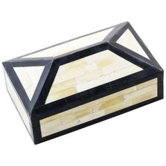 Irene Box in Ivory and Black Bone by CuratedKravet