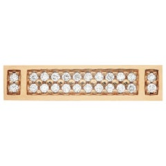 18 Karat Rose Gold 0.26 Carat Diamond Pavé MLG 36 Ring