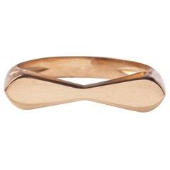 18 Karat Rose Gold Tie Ring