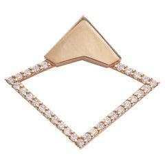 18 Karat Rose Gold with 0.44 Carat Diamond Pavé Orbita Earrings