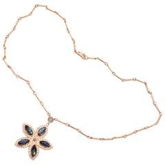 Irene Neuwirth Labradorite Diamond Rose Gold Pendant Necklace