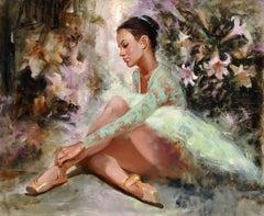 """Dreams of Glory"", Irene Sheri, Figurative, Impressionism, Original, 30x36"