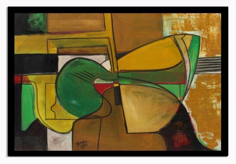Original Abstract Expressionist 1959 New York Female Artist Irene Zevon Musical - Painting by Irene Zevon