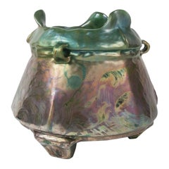 Iridescent Planter, by Clément Massier, for the Hôtel Ritz, 1885