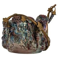 Iridescent Stoneware Art Nouveau Ceramic Set